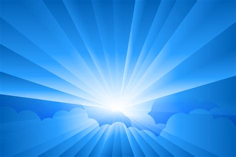 wallpaper cahaya biru フリーイラスト素材 イラスト 風景 自然 空 日光 太陽光 青空 青色 ブルー eps