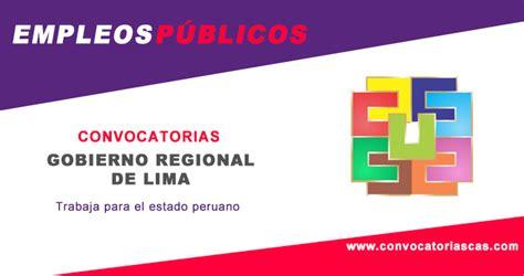 Convocatoria Cas Gobierno Regional De Arequipa   convocatoria gobierno regional lima 2018 concursos