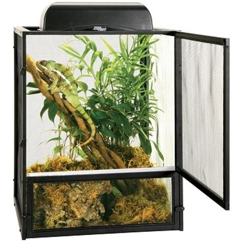Reptile Cage Decor zoo med zoo med reptibreeze open air black aluminum screen