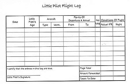 flight log book template images templates design ideas