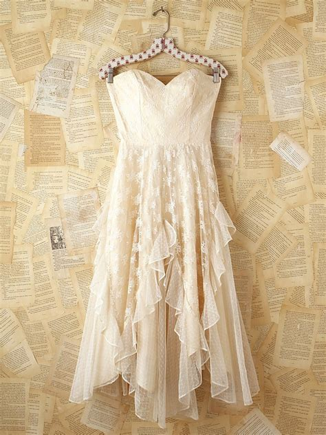 Country Dress free vintage white lace strapless from free