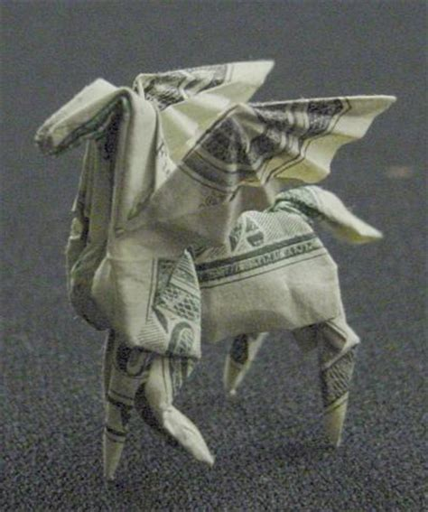One Dollar Bill Origami - amazing collection of origami made out of dollar bills