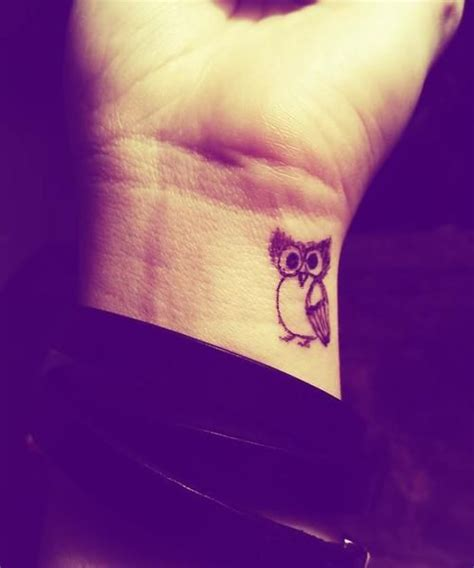 cute owl wrist tattoo tattoo piercing pinterest