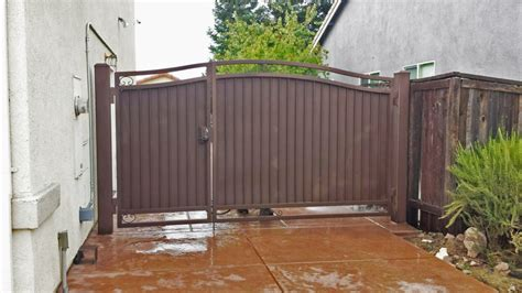 wrought iron side yard gates privacy gates sacramento ca