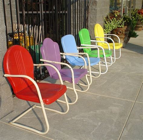 Retro Metal Lawn Chairs by Antique Metal Chairs Antique Furniture
