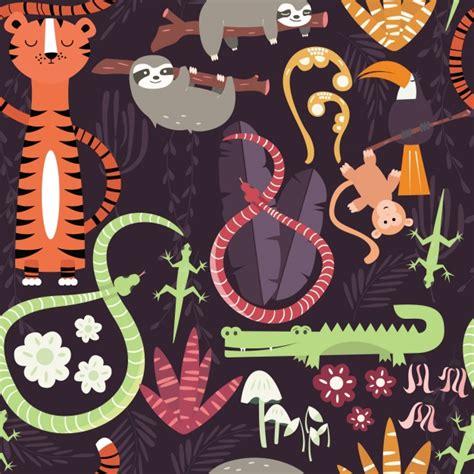 pattern tiger ai wild animals pattern vector premium download