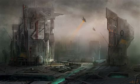 spaceport  ultra hd wallpaper  background image  id