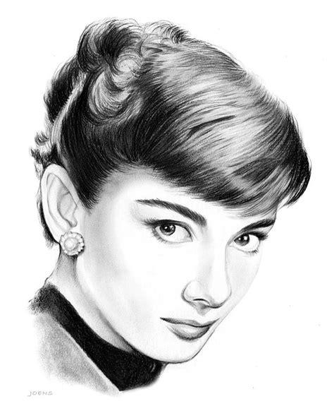 audrey hepburn hair style simple drawings sketches audrey hepburn drawing by greg joens