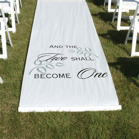 Wedding Aisle White by Two Shall Become One White Aisle Runner S Bridal