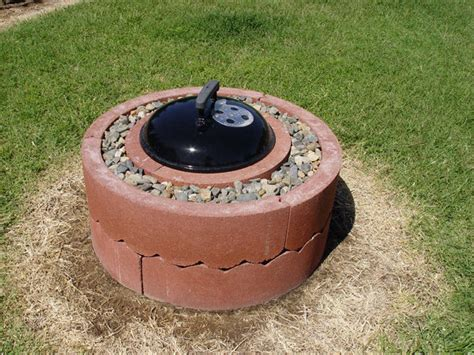 50 Fire Pit Using Concrete Tree Rings Step 4 Weber Firepit