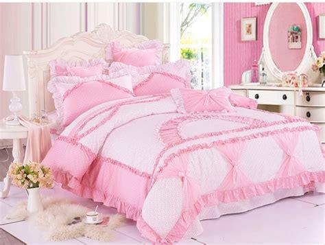little girls bedding girls pink white little floral bowtie ruffled frilly duvet