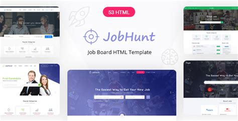 Jobhunt Job Board Html Template Nulled Download Board Website Template