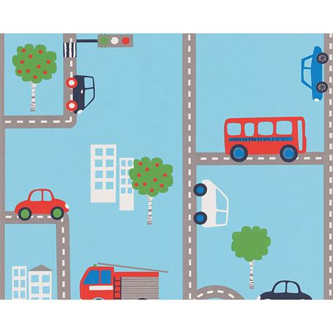 childrens borders for bedrooms uk blue transport wallpaper rolls 93632 1 cars buses kids