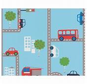Azul Transport Papel Pintado Rollos 93632 1 Coches