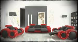Different Styles Of Home Decor by Funky Leather Sofas With Black And Red Color For Ultra