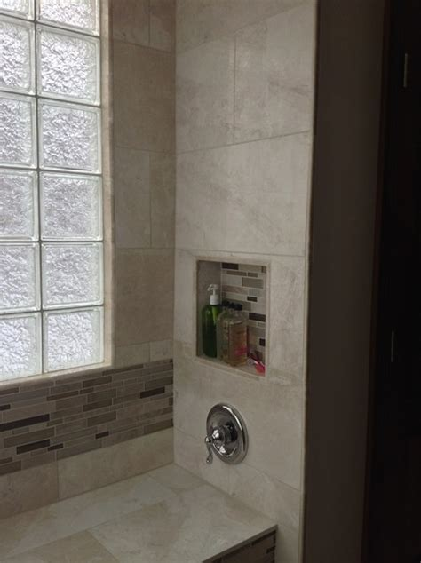 how to replace bathroom window recessed niche glass block window and bench seat in