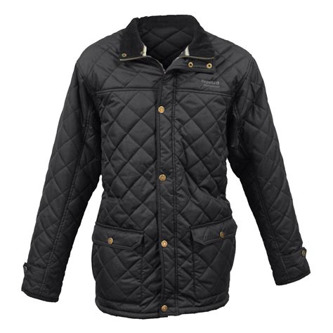 Black Quilted Jacket by Regatta Mens Black Rigby Quilted Jacket Great Outdoors