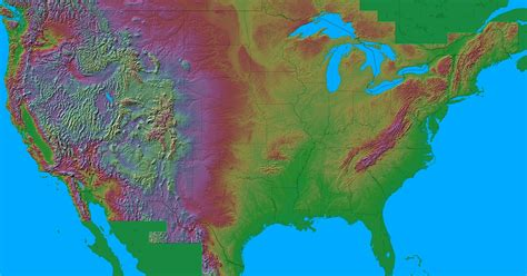 america map topographical impact resources