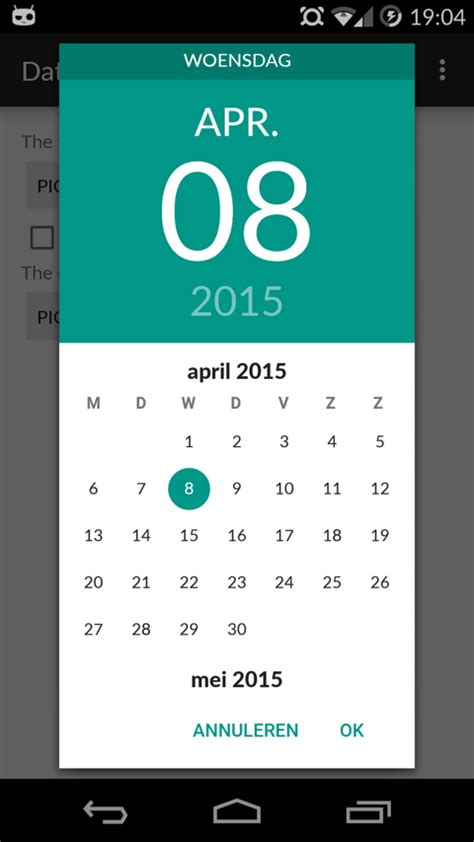 android date picker date picker android material design ui design and ui ux