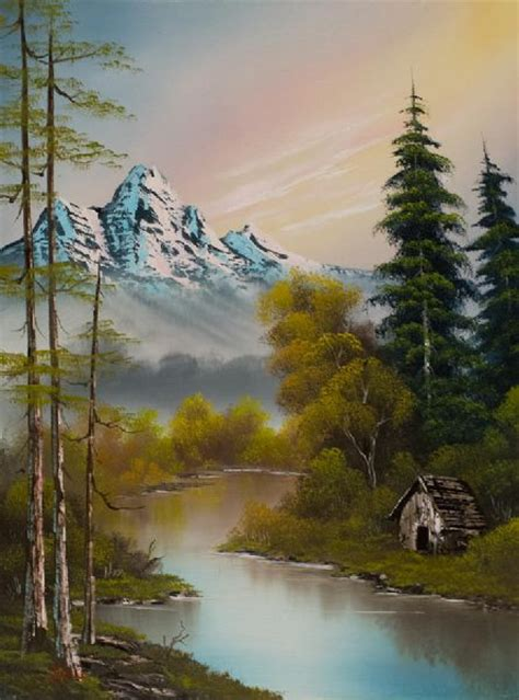 bob ross paintings mountains bob ross foot of the mountain painting bob ross foot of