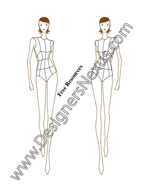 pin fashion croquis templates free on pinterest