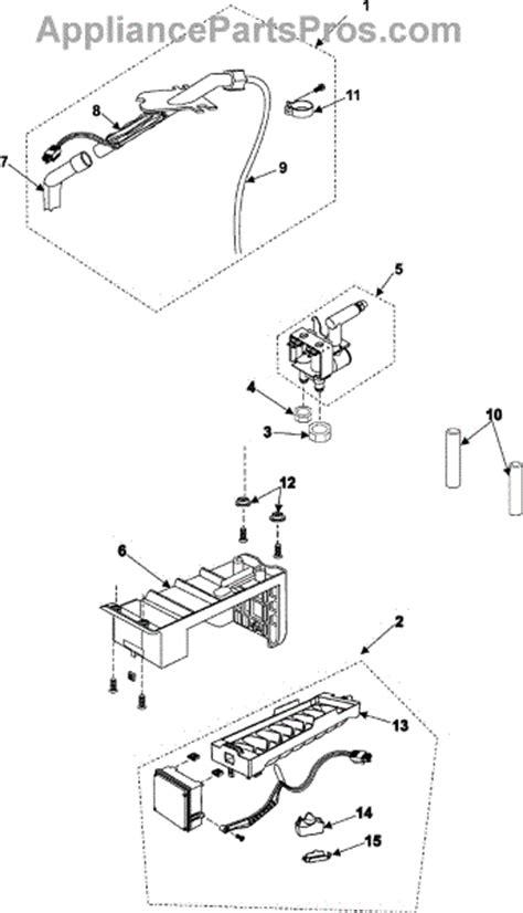 samsung refrigerator maker parts diagram parts for samsung rs267labp xaa maker parts