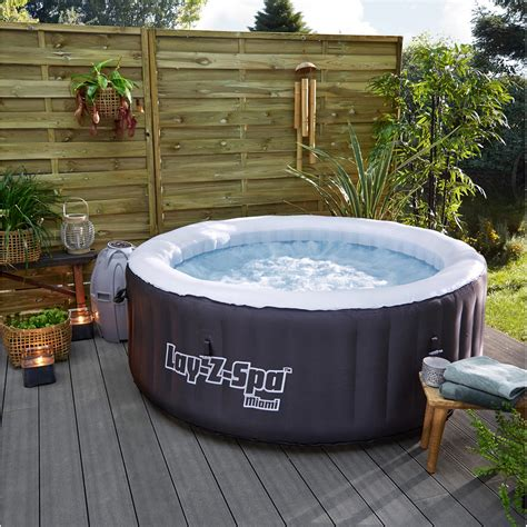 Piscine Bestway 528 by Spa Gonflable Bestway Miami Rond 4 Places Assises Leroy