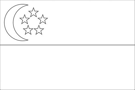 flag of singapore 2009 clipart etc