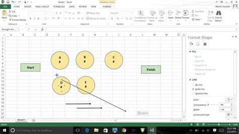 Network Diagram Excel using excel 2013 graphic tools to create network diagrams