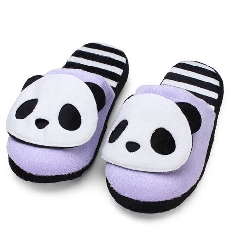 135738 Hem Panda Salur 1 k 246 p h 246 st vinter varma gulliga panda hem skor mjuka bottom tofflor bazaargadgets