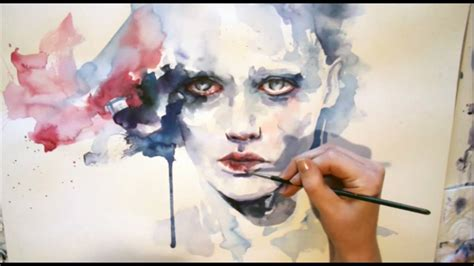 watercolor tutorial face portrait watercolor speed painting youtube