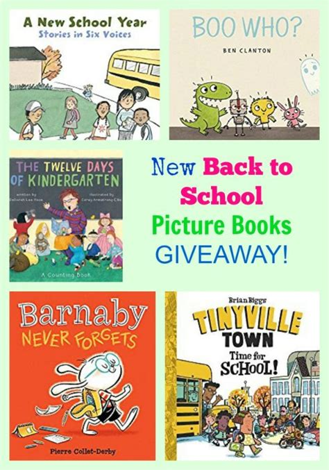 New Back To School Picture Books Giveaway Pragmaticmom