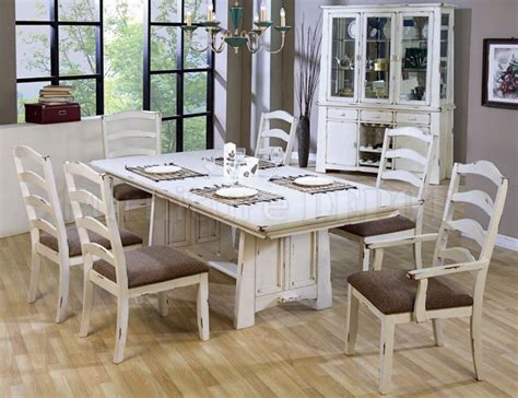 distressed dining room sets distressed dining room table and chairs marceladick