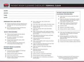 Bed Frame Headboard And Footboard Patient Room Cleaning Checklist Terminal Clean Pdf