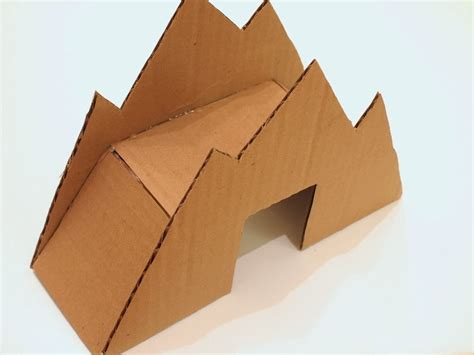 How To Make A 3d Mountain Out Of Paper - make a cardboard bridge for trains and cars pink stripey