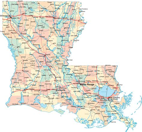 louisiana map louisiana road map la road map louisiana highway map