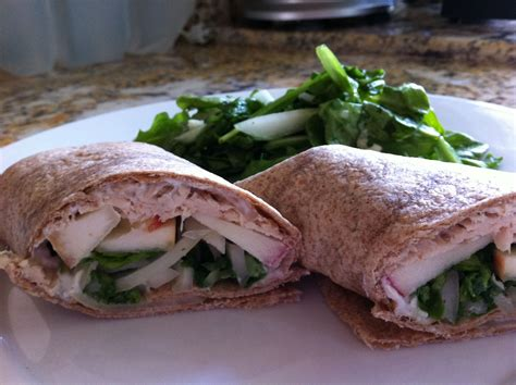 hope studios thanksgiving wrap up turkey wrap with apple and blue cheese recipe 6 points