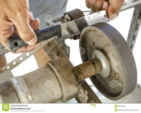 the sharpening the sharpening tools royalty free stock image image
