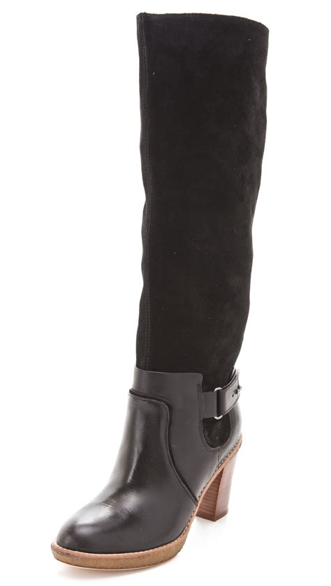 michael kors boots for kors by michael kors two tone boots in black lyst