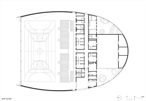 Stadium Floor Plans Gallery Of Lardy Sports Hall Explorations Architecture 12