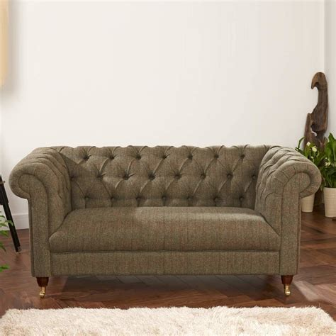 Tweed Chesterfield Sofa Chesterfield Leather Or Tweed Sofa Two Or Three Seater By The Orchard Furniture