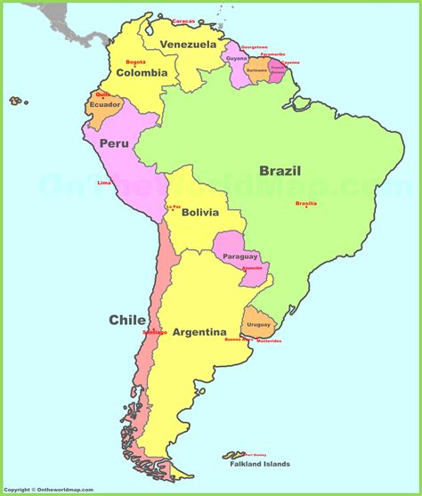 map of central america and its capitals america map with countries and capitals for central