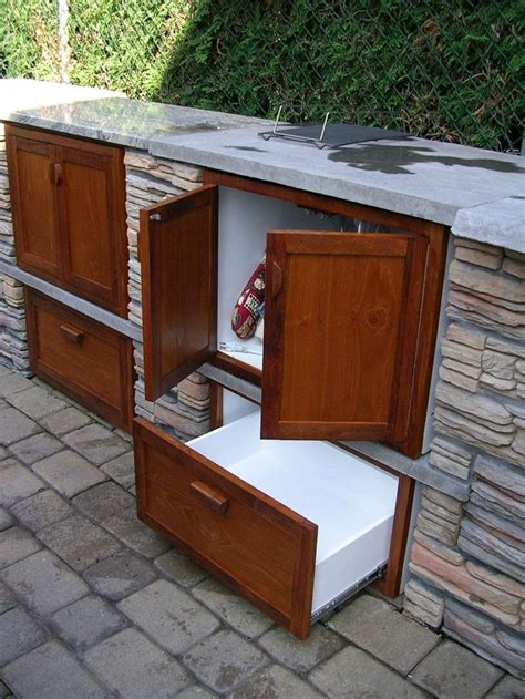 outdoor kitchen storage drawers 17 best images about patio on hose hanger
