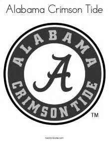 Alabama Crimson Tide Coloring Page Twisty Noodle Alabama Football Coloring Pages