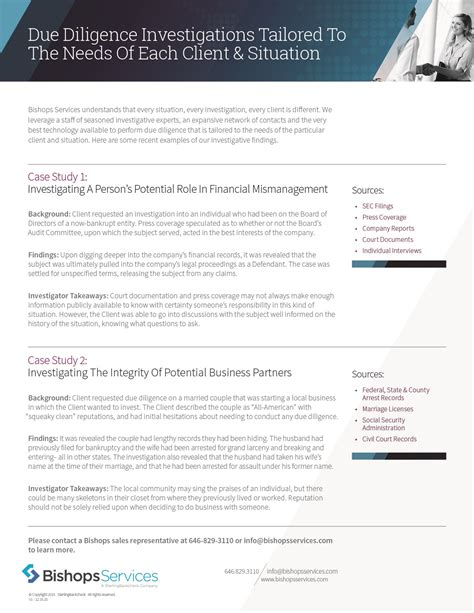 Sterling Background Check Form Due Diligence Investigations Tailored To The Needs Of Each Client Situation