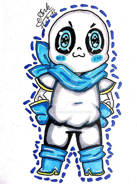 blueberry sans underswap fanart by yantori96 on