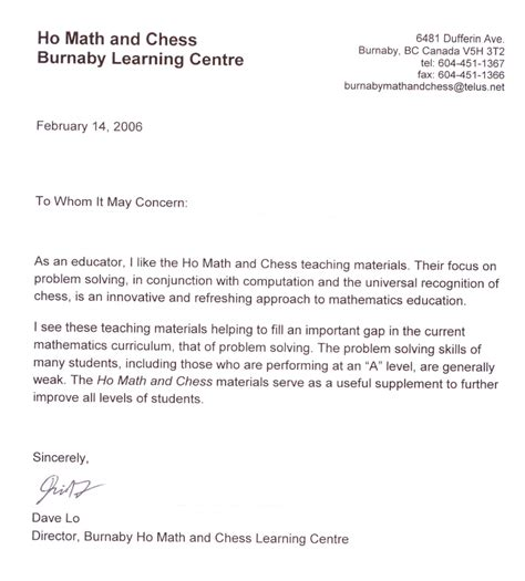 Recommendation Letter For Student In Math Firmtacami Letters Of Recommendation For Students