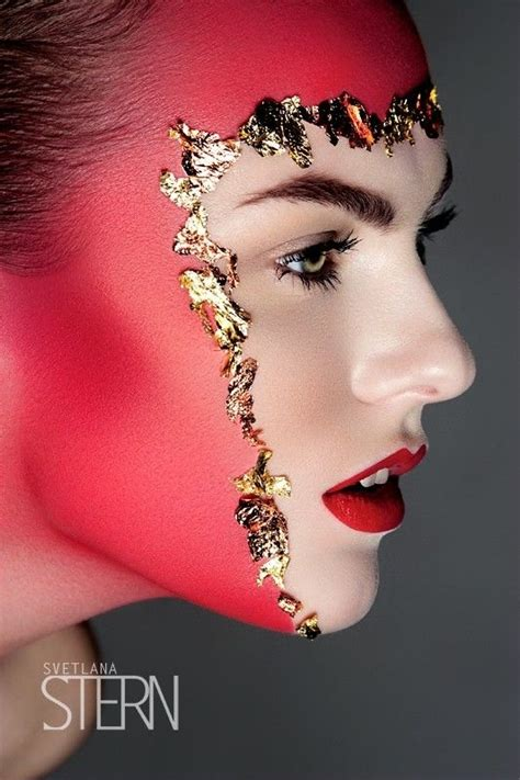 beauty garde avant garde makeup glitter mugeek vidalondon