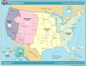 North American Time Zone Map by Siteground Web Hosting