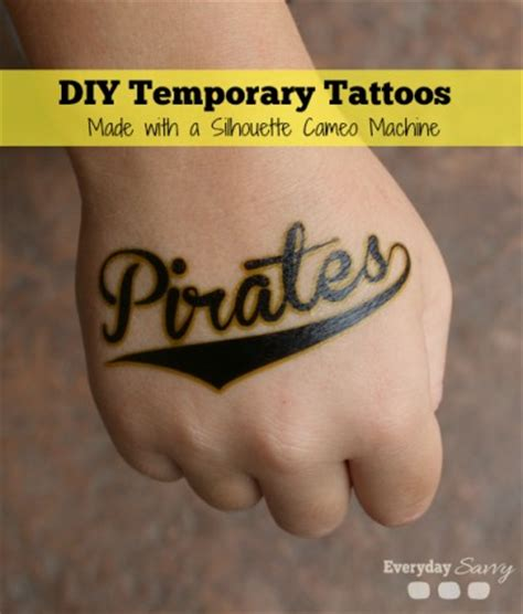 diy fake tattoo diy temporary tattoos made with a silhouette cameo